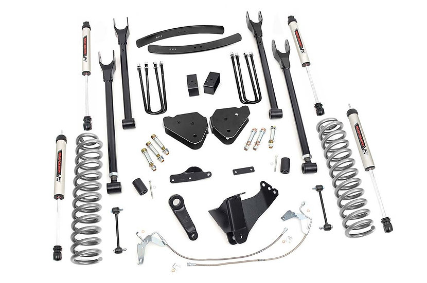 6in Ford Suspension Lift Kit | 4-Link w/ V2 Shocks (08-10 F-250/350 4WD)