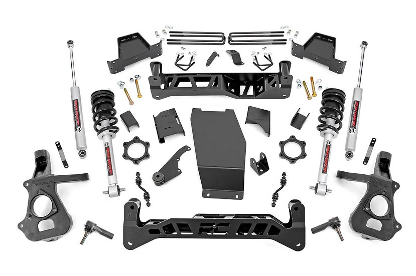 7in GM Suspension Lift Kit | Lifted Struts (14-18 1500 PU 4WD | Cast Steel)