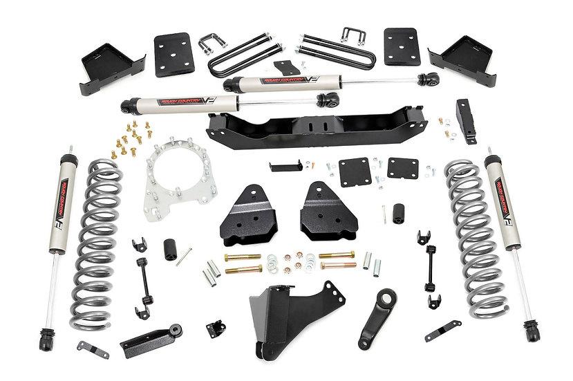 4.5in Ford Suspension Lift Kit w/V2 Shocks (17-20 F-250/350 4WD | Diesel)
