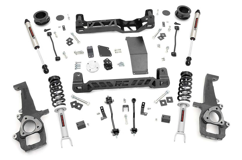 4in Ram Suspension Lift Kit | N3 Struts and V2 Shocks (12-18 1500 4WD)