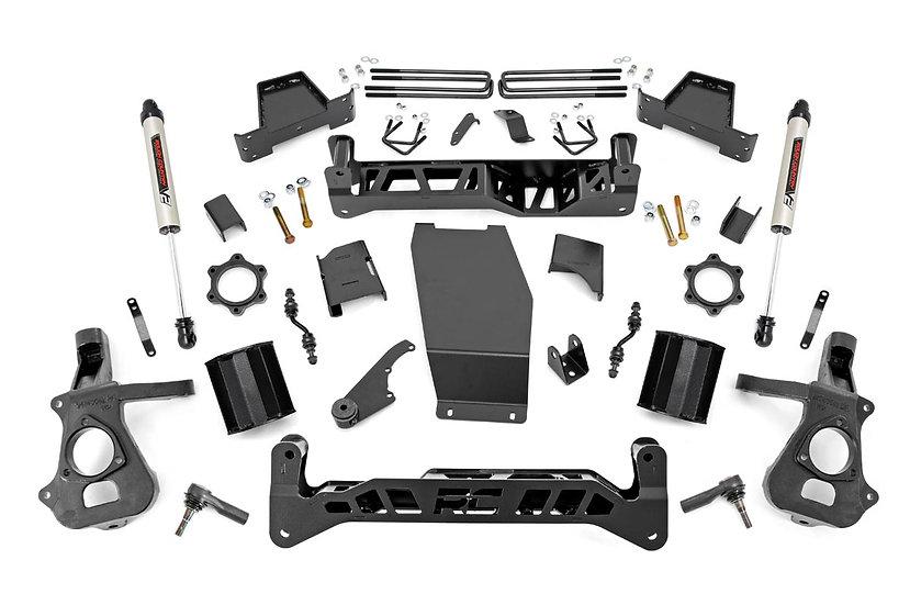 7in GM Suspension Lift Kit w/ V2 Shocks (14-18 1500 PU 4WD | Cast Steel)