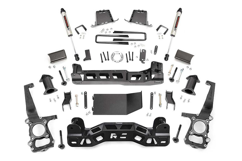 6in Ford Suspension Lift Kit | Strut Spacers & V2 Shocks (09-10 F-150 4WD)