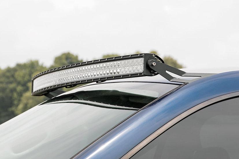 Dodge 54-inch Curved LED Light Bar Upper Windshield Mounts (03-09 Ram 2500/3500)