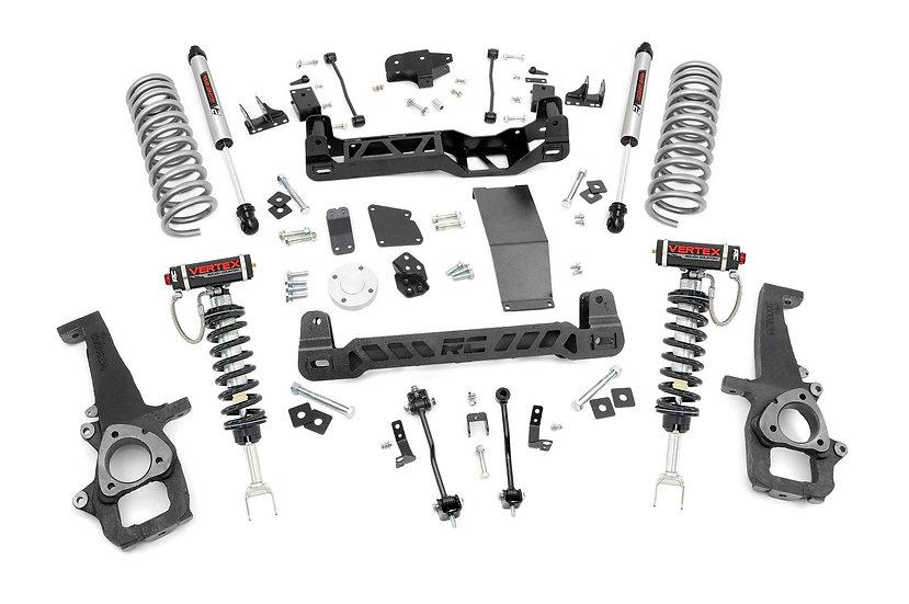 6in Ram Suspension Lift Kit   Vertex Struts & V2 Shocks (12-18 1500 4WD)
