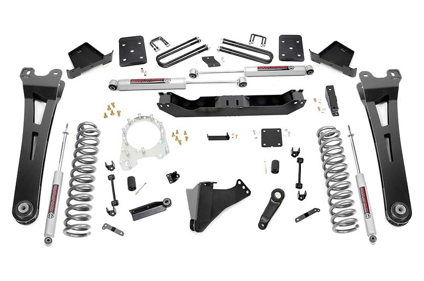 6in Ford Radius Arm Suspension Lift Kit (17-20 F-250 4WD w/Overloads | Diesel)