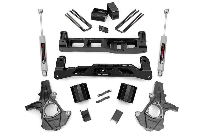 5in GM Suspension Lift Kit w/N3 (14-17 1500 PU 2WD | Cast Steel)
