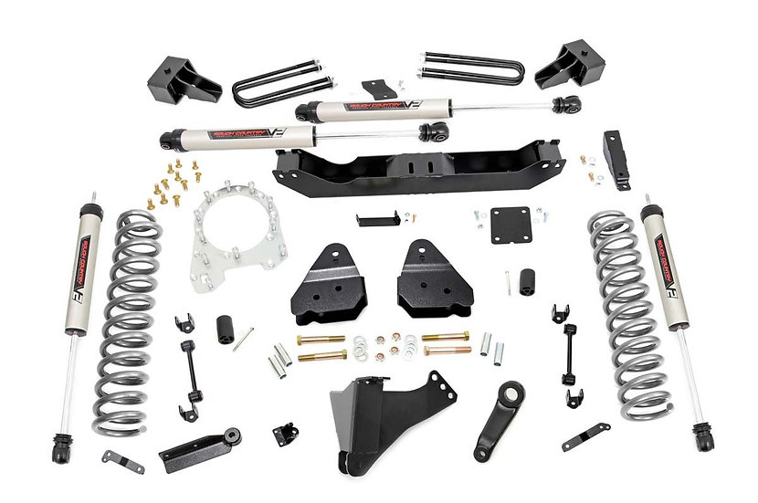 4.5in Ford Suspension Lift Kit w/ V2 Shocks (17-20 F-350 4WD | Diesel Dually)