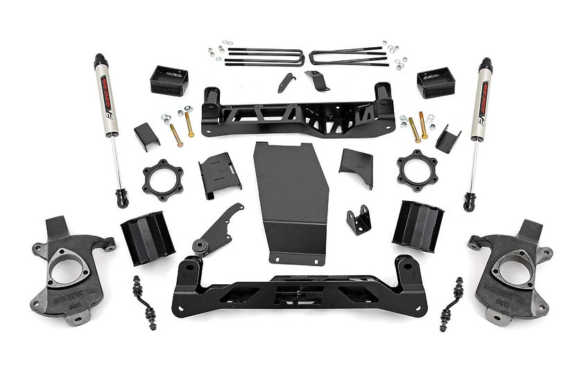 5in GM Suspension Lift Kit w/V2 Monotube Shocks (14-18 1500 PU 4WD | Cast Steel)