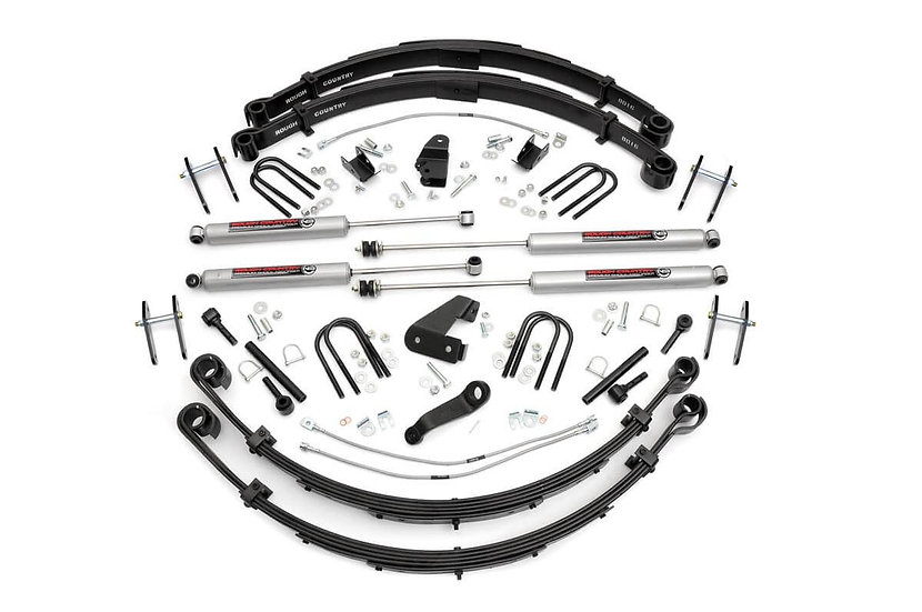 6in Jeep Suspension Lift Kit (Manual Steering)
