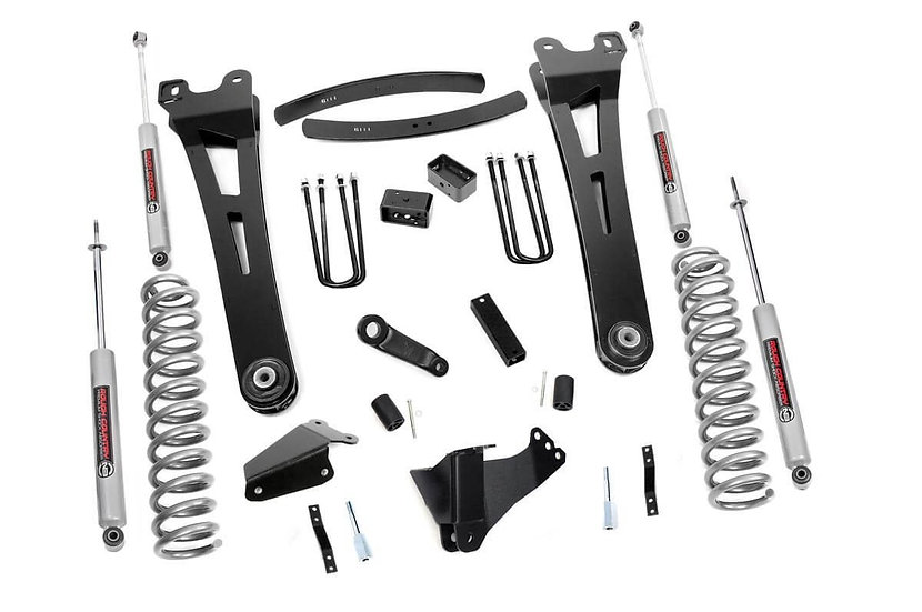 6in Ford Super Duty Radius Arm Suspension Lift Kit (Gas)