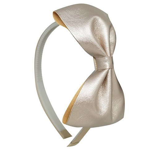 Milano Bow Headband - Pewter kids