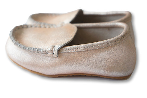 Monaco Loafer | Pale Metallic Pink