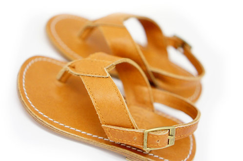 Harvey Sandal / Tan (big kids size 1-3)