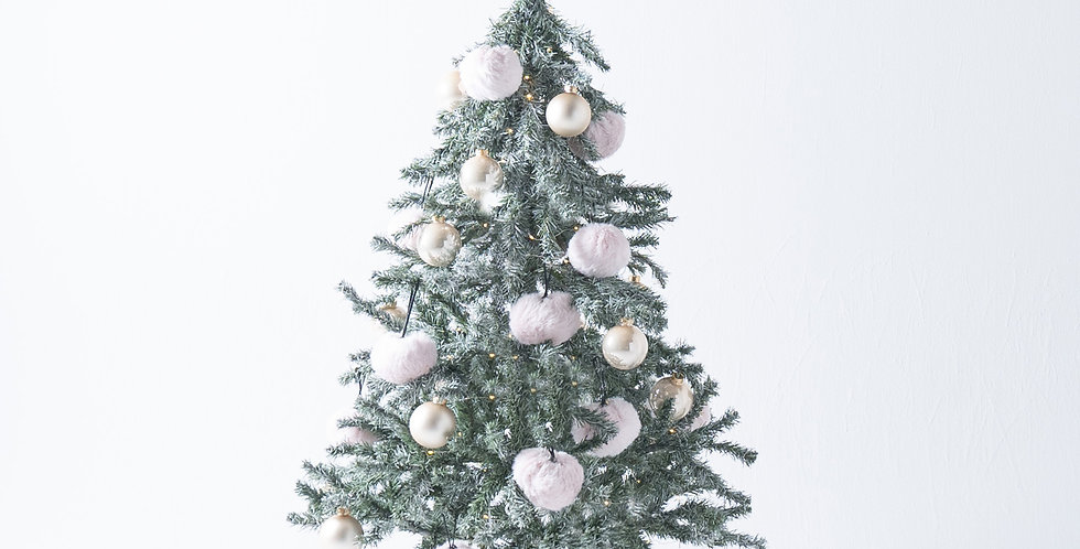 FT150 Fluffy Tree set / Baby pink