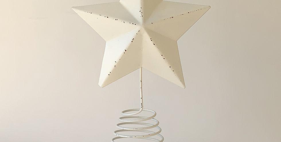 Barn Star Tree Topper/white