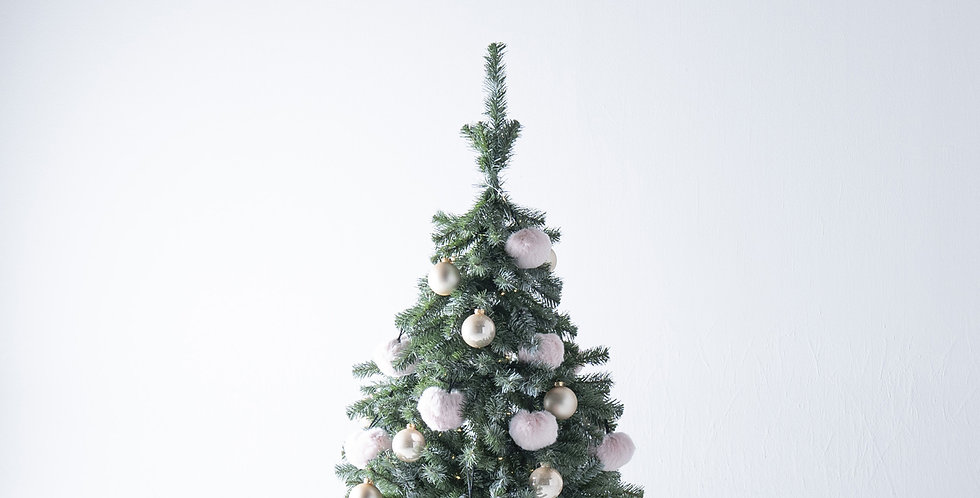 FT120 Fluffy Tree set / Baby pink