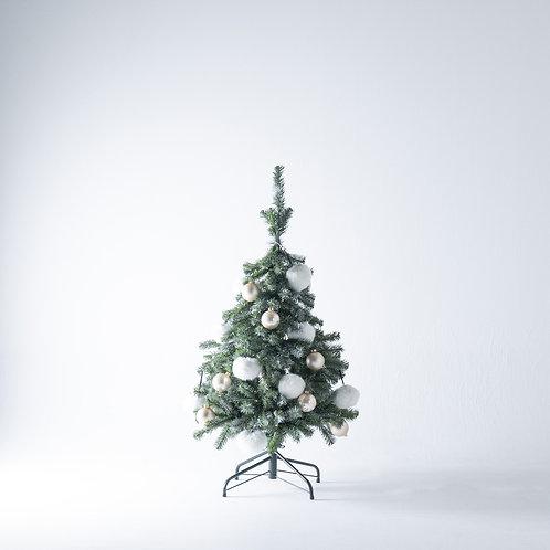 FT120 Fluffy Tree set / Snow white