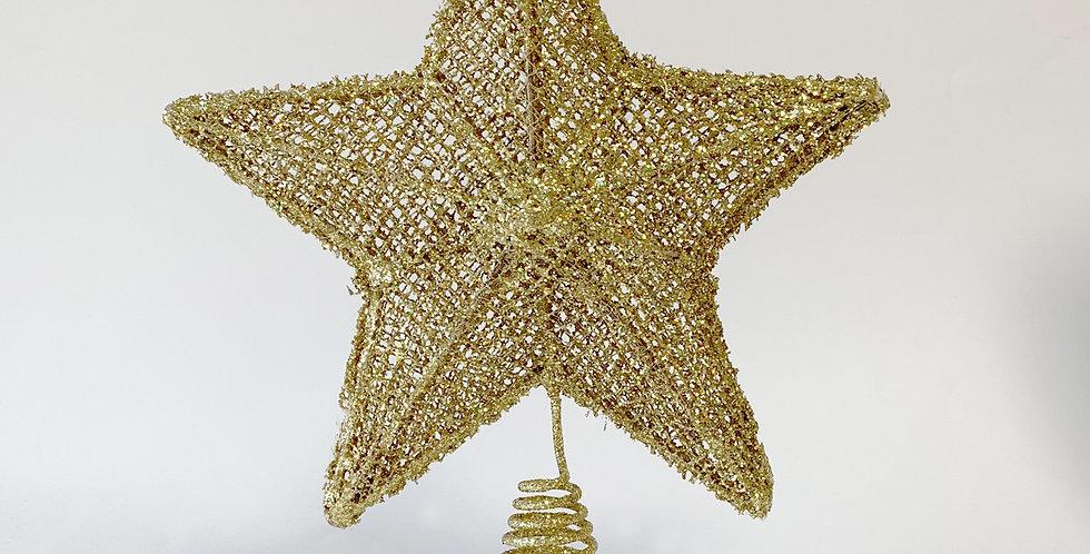 Star Tree Topper/Gold glitter