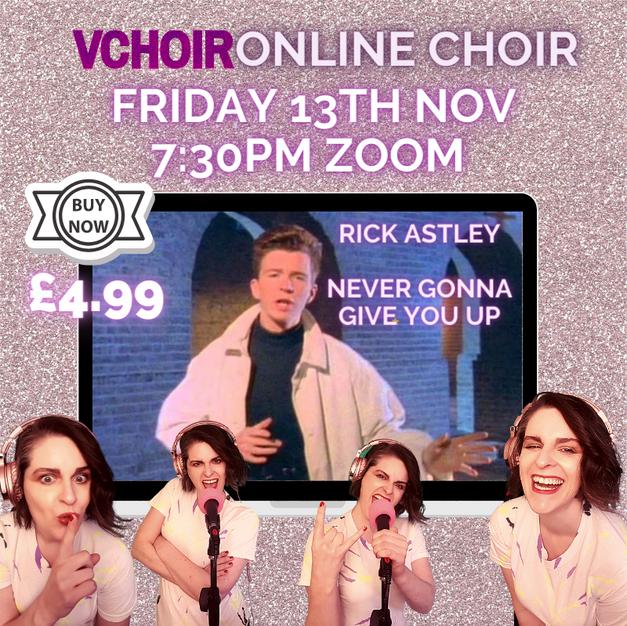 £4.99 Rick Astley Vchoir 13th Nov