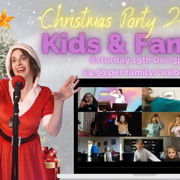 Kids & Family Christmas party Sat 19th Dec 3pm £4.99