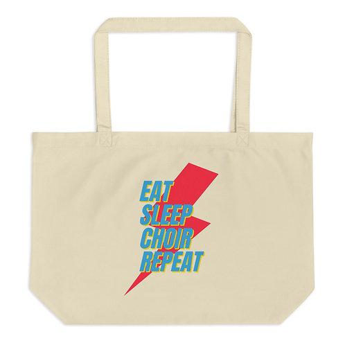 Eat Sleep Choir Repeat Large organic tote bag