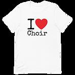 I love choir T-shirt christmas gift
