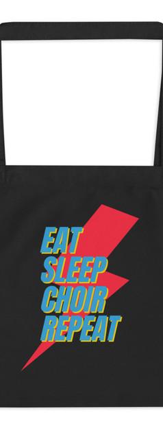 Eat Sleep Choir Repeat Tote Bag