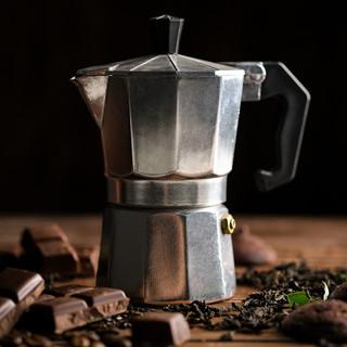 Предметная съемка - кофейник, кофе, шоколад