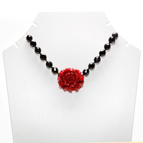 Colar Flor Black Cristal