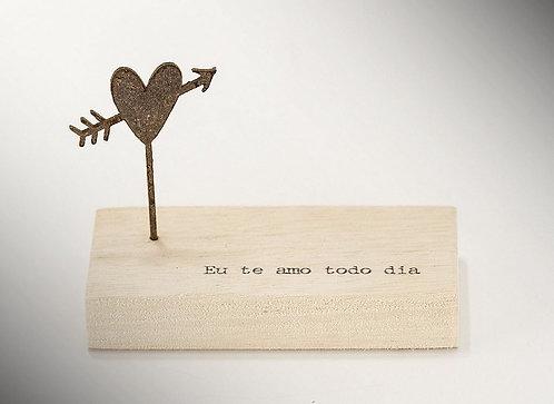 Mini Escultura Eu te Amo Todo Dia