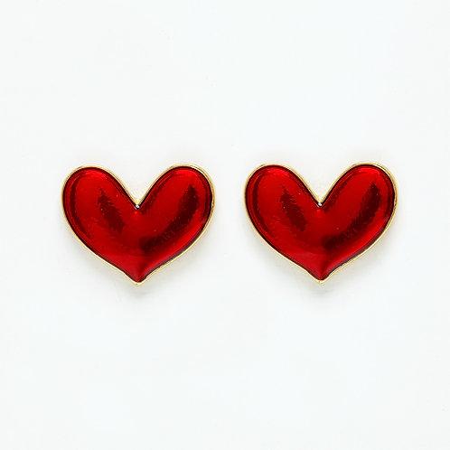 Brinco Coração Esmaltado