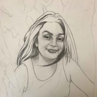 """""""Gina"""", 11 x 14"""