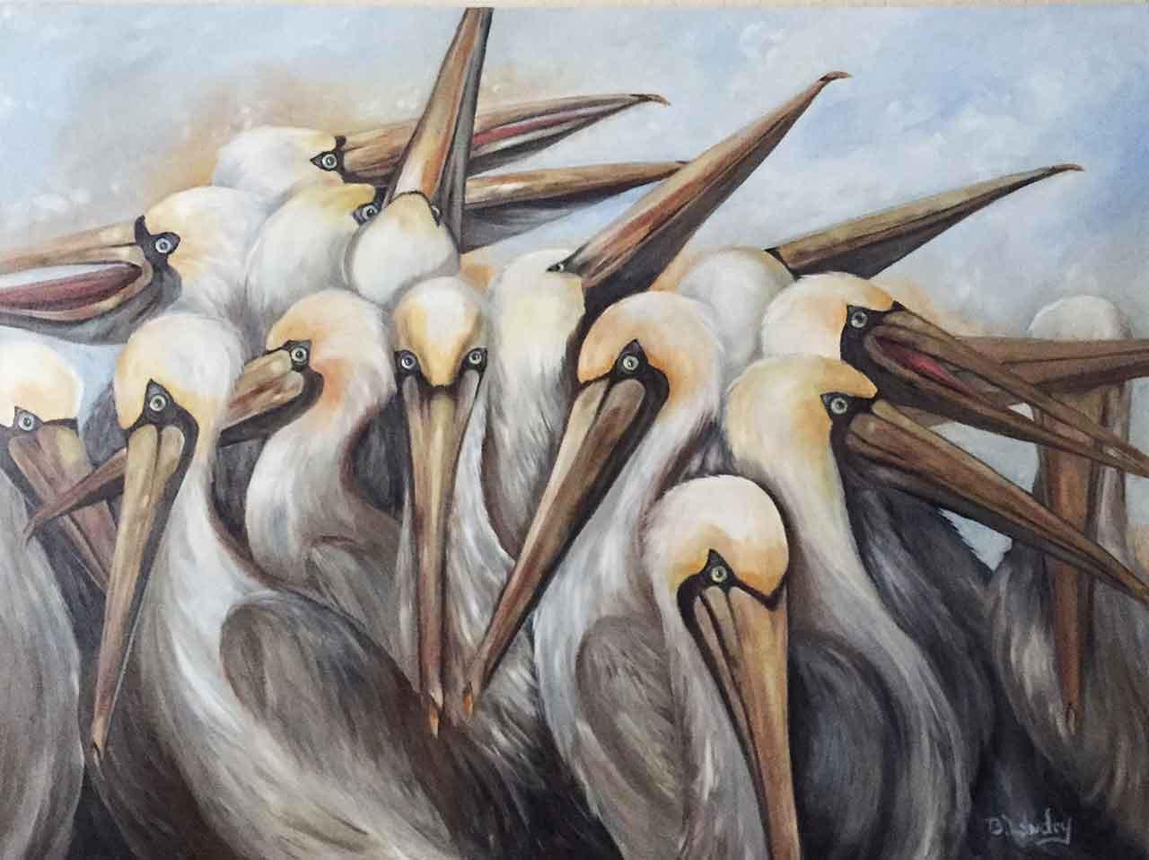 Landry_Pelicans-in-Summer-Plumage-BLandr