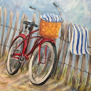 """""""Beach Day!"""", 10x10 Acrylic"""