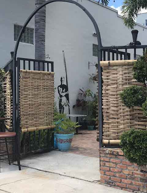 """Corona Gate"", installed at the Luau Ono restaurant downtown"