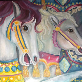 Carnival,  16x20 oil painting