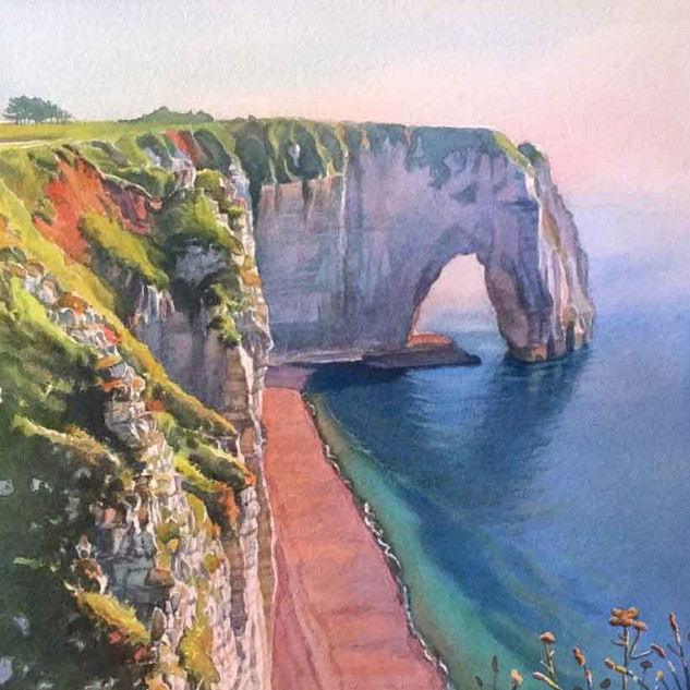 """Cliffs at Etretat"""