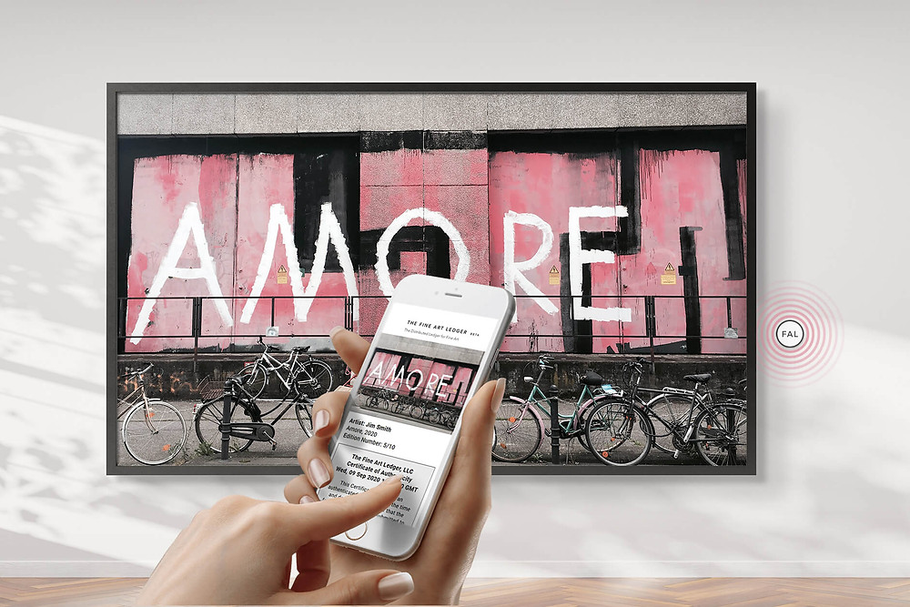 Art blockchain Mobile Fine Art Experience
