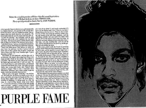 Warhol, Prince and a Case of Vanity Perhaps Not-So-Fair: Even Fine Art Colossuses Need Inspiration