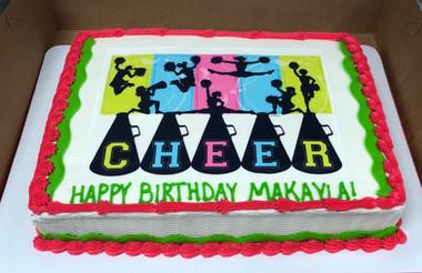 Cheer Sheet Cake