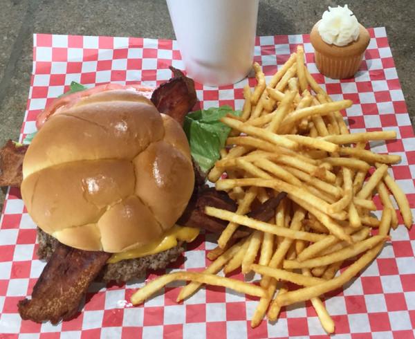 Bacon Cheese Burger Basket