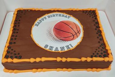 Basketball edible image
