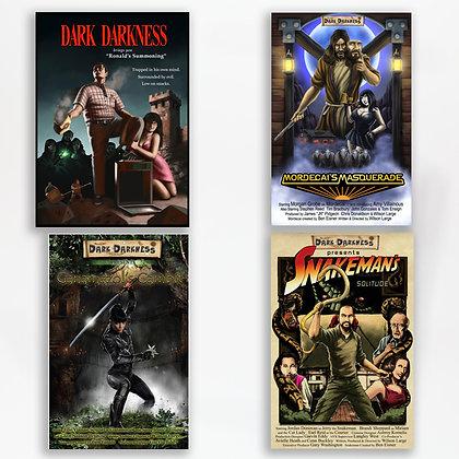 Set of four Dark Darkness webisode posters
