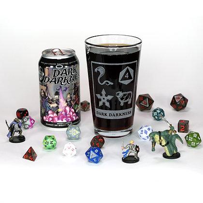 Dark Darkness Pint Glass (Early Logo)