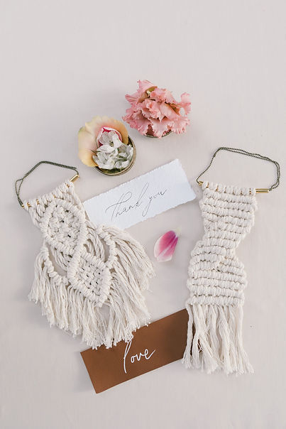 Macrame wedding gifts