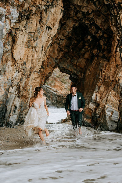 Wedding sea caves