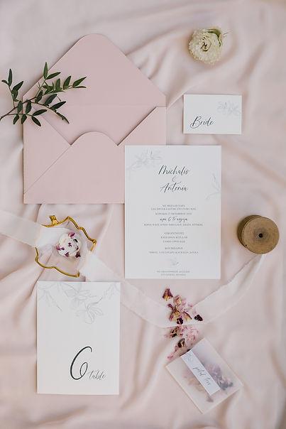 blush pink stationery