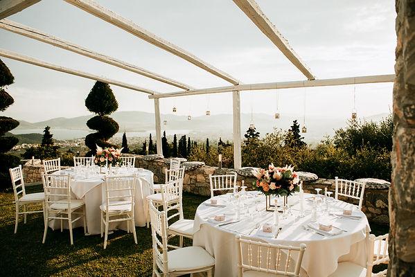 Sea view wedding dinner table