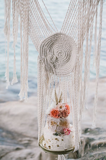 Bohemian wedding macrame