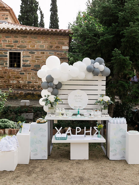 candy table,baptism in greece,pastel baptim